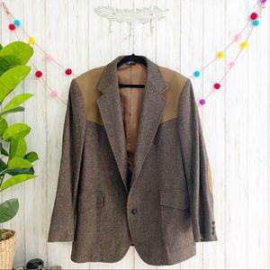 Pendleton Western Wool Elbow Patch Blazer 48 LONG